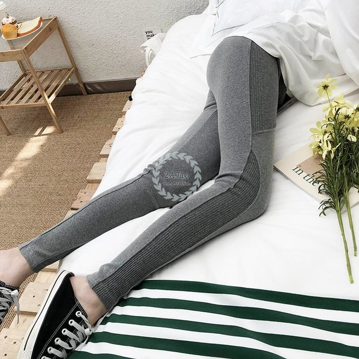 【2A Two】韓國熱銷👉顯瘦 高彈性 拼接 內搭褲 舒適 長褲『381016004』