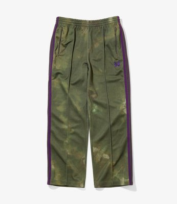 【Hills】直筒 NEEDLES TRACK PANT POLY SMOOTH UNEVEN-DYE PRINTE 綠