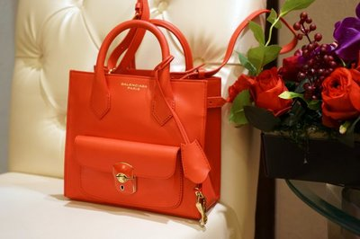 巴黎世家Balenciaga Mini padlock All Afternoon bag 小型鎖頭機車包 紅