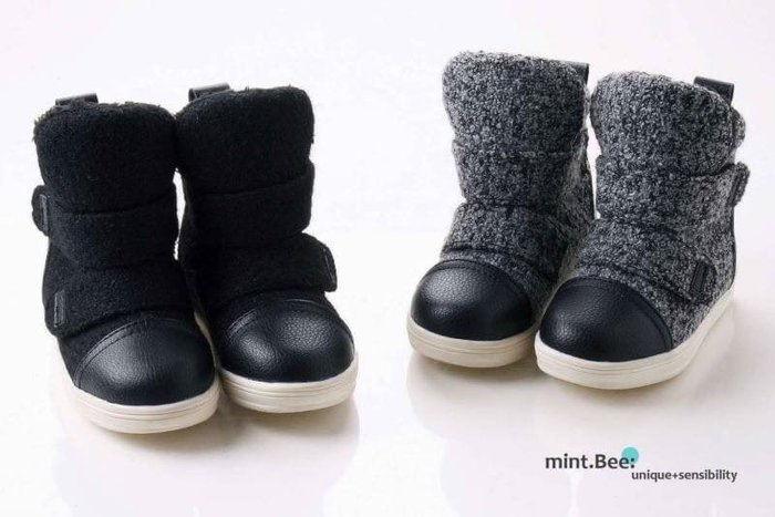 『※妳好,可愛※』韓國童鞋~韓國 兒童毛尼雪靴 童靴.靴子 雪靴 (2色)