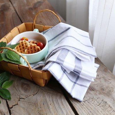 hello小店-日式棉麻格子餐墊 餐桌墊隔熱墊碗墊 蓋布餐具墊 西餐餐巾 餐布Q#鍋墊#杯墊#墊子#