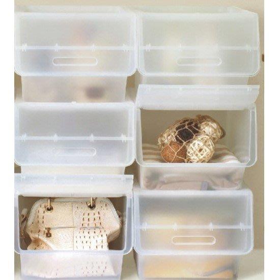 荻野屋/HB65/大口鄉村直取式整理箱透明/65L/嬰兒衣物收納/整理箱/無印良品/半透明HB-65/直購價