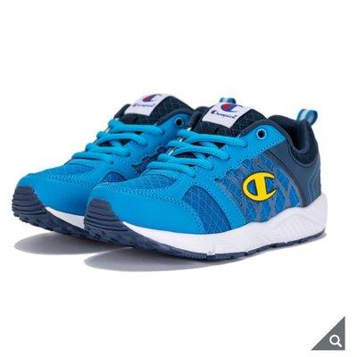 零碼出清 Champion 男童輕量慢跑鞋 輕量化童鞋 兒童運動鞋(尺寸:21~21.5公分)-藍色 新北市