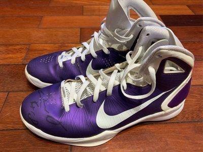 Omri Casspi 國王 2010-11賽季實戰著用 Hyperdunk 2010 Game worn shoes 親筆簽名