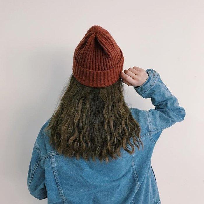帽子毛帽子女冬季韓版保暖男學生套頭毛線帽可愛百搭秋冬尖尖帽針織帽