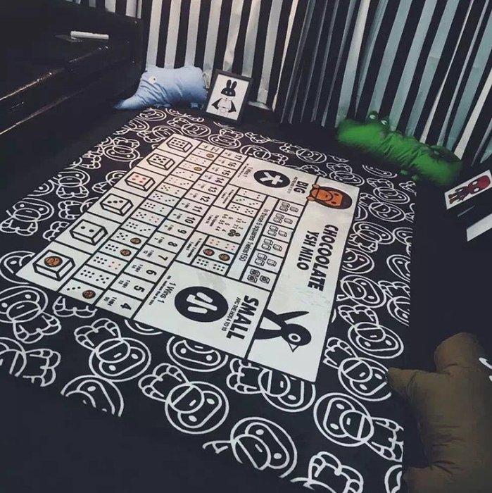 法蘭絨大嘴猴遊戲潮地毯客廳遊戲地毯地墊