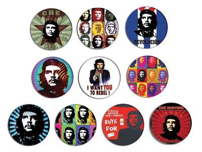 CHE GUEVARA Pop Art Pin Pinback BADGE SET 哲古華拉 襟章 徽章(一套10個)天后門市自取貨