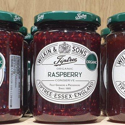 1/3前 一次買2瓶 單瓶258 英國進口 Tiptree 有機覆盆子果醬 340g Wilkin & Sons Organic raspberry到期日同圖