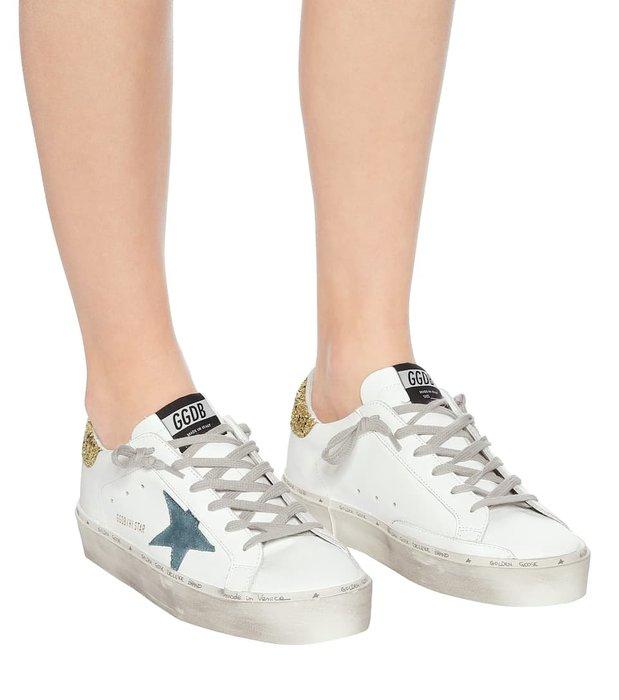 【代購 】20春夏 Golden goose Hi star  星星 金色亮片尾仿舊 厚底 休閒鞋