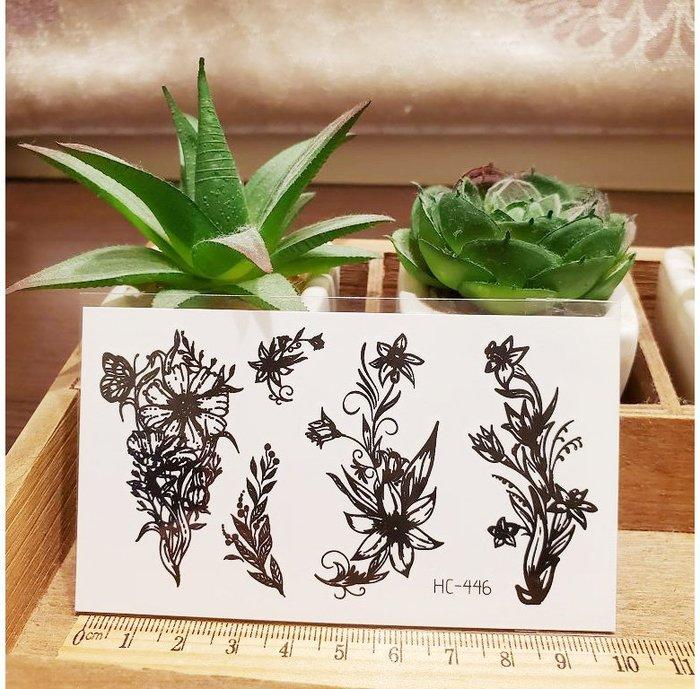 【萌古屋】黑色小圖騰 - 男女防水紋身貼紙刺青貼紙HC-446