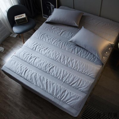 純棉床笠1.5m全棉加厚夾棉席夢思防滑保護床墊套1.8m床全包罩睡墊 床墊 軟墊 保護罩 保潔墊 雙人 單人 海綿墊 免運
