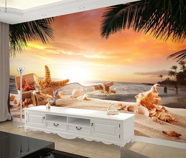 客製化壁貼 店面保障 編號F-747 瓶中信沙灘 壁紙 牆貼 牆紙 壁畫 背景牆 星瑞 shing ruei