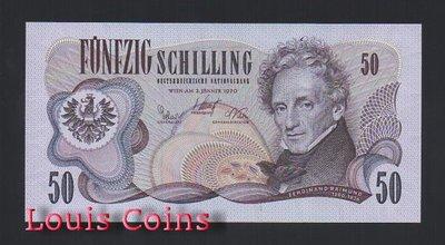【Louis Coins】B663-AUSTRIA--1970奧地利紙幣50 Schilling