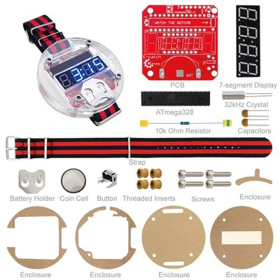 單片機LED手錶套件 時鐘DIY big time 電子表散件 基於arduino