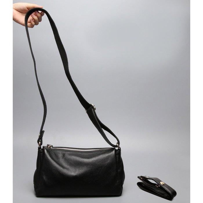 免運 真皮單肩包【ZOWOO-0386】牛皮小包包 歐美時尚側背包 質感全真皮斜背包多夾層非正韓國連線ZARA真皮水桶包