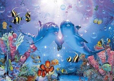 日本進口拼圖專賣店_動物3000片 究極達人 海豚 珍貴的愛 21-304