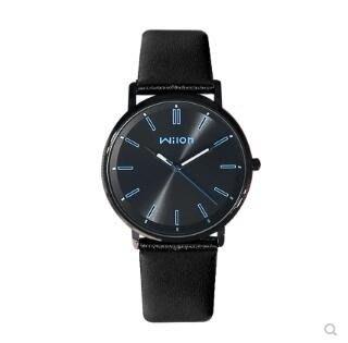 【免運費】手錶盤男潮流超薄皮帶夜光手錶日韓時尚簡約防水石英錶QD3C-Y296