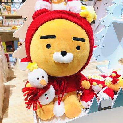 全新 韓國代購 KAKAO FRIENDS X'mas 聖誕版 Ryan 45CM 大公仔 正品 預購 $698➡️$568(可旺角門市交收)預購貨品請先入數