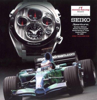 【逸品】GRAND SEIKO GS等級SPORTURA HONDA F1 SLQ023J1/SLQ023人動電能碳纖維