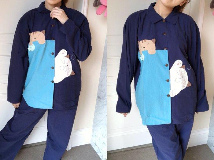 日本卡拉貓~ 慵懶貓咪純棉居家套裝 睡衣套裝
