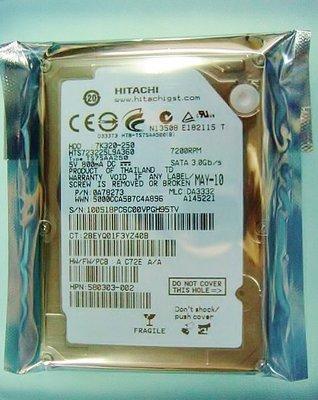 保固12個月【小劉硬碟批發】全新HITACHI 2.5吋250G SATA 7200轉筆電硬碟