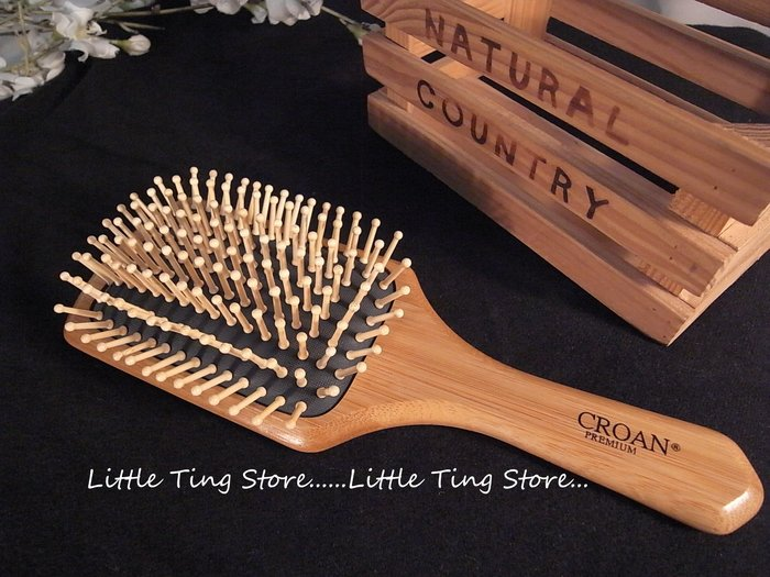MIT 台灣製造天然竹製按摩梳SPA 大板竹針氣墊按摩梳防靜電梳  放鬆頭皮拍打身體