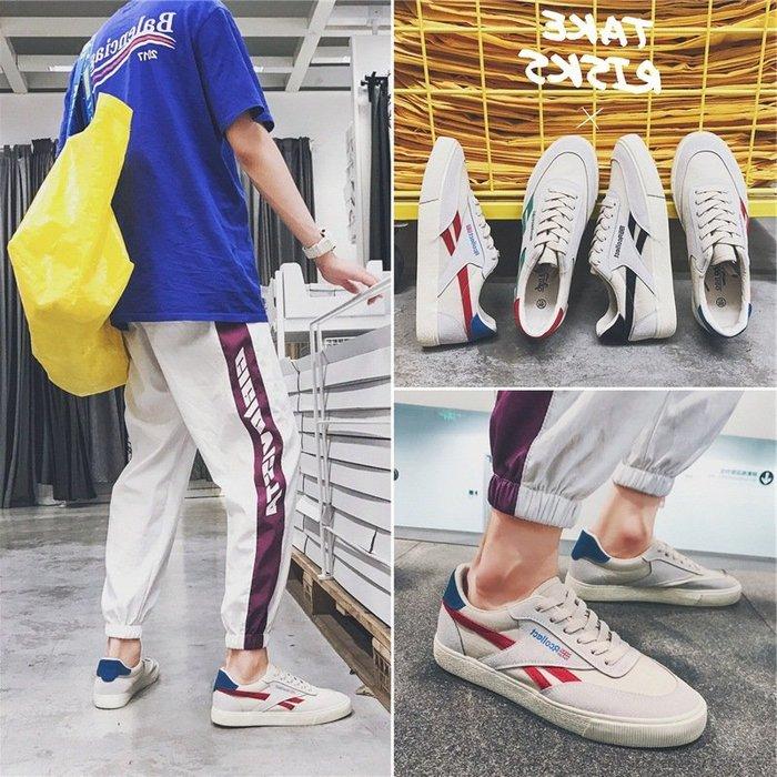 【簡單輕便】工裝鞋夏季新款男士白色板鞋帆布鞋男百搭透氣拼色休閒布鞋韓版韓版