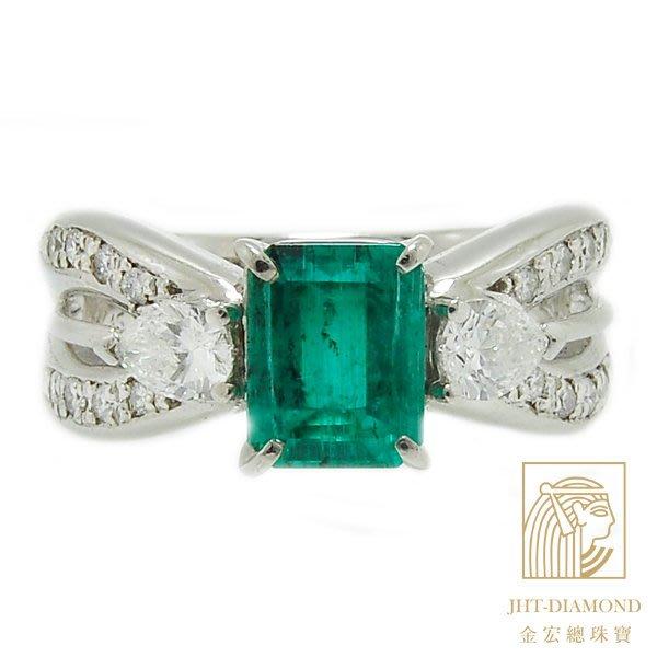 【JHT 金宏總珠寶/GIA鑽石專賣】1.52克拉天然祖母綠戒指 /配鑽:1.53ct (E000025)