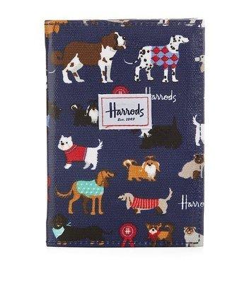 【英國直送】全新 HARRODS Show Dogs Passport Holder 護照套 清貨減價 (保證正貨)