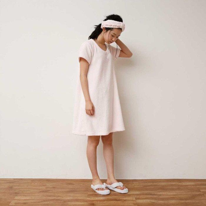 《齊洛瓦鄉村風雜貨》日本zakka雜貨 吸水速乾絨毛睡衣 居家服 浴巾 浴袍 連身浴裙