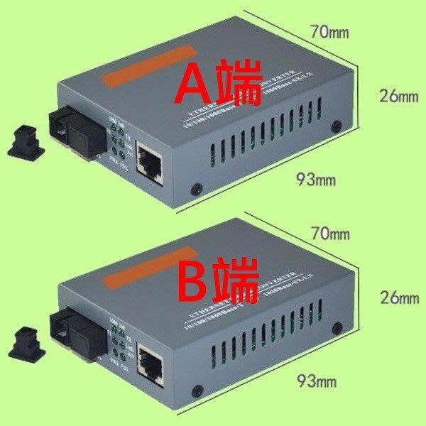 5Cgo【權宇】Haohanxin千兆單模單纖光纖收發器GS-03-20KM-AB光電轉換器A+B端共二台 含電源 含稅