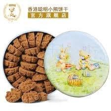 *日式雜貨館*現貨 香港代購 珍妮曲奇餅乾 聰明小熊曲奇餅乾 咖啡花曲奇餅乾 1味咖啡曲奇 大盒640g