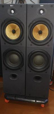 (已售存檔用)清空間便宜出讓B&W DM603s2英國制落地音箱知名功夫龍中音下放鸚鵡螺高音傳輸管技術設計雙音箱雙反射孔單體無傷無修黑色箱體小傷無網罩