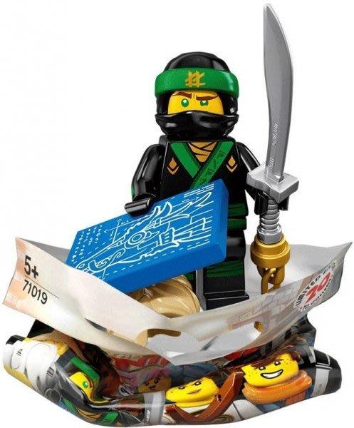 現貨【LEGO 樂高】積木/ Minifigures人偶包系列: 忍者電影 71019   #3 綠忍者勞埃德Lloyd