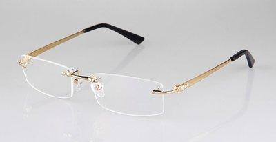 超轻无框纯钛合金眼镜架男女士商务近视眼镜框架