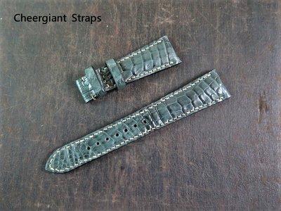 精工錶圓弧型錶耳鱷魚錶帶Grand Seiko SBGA413 curved lug end croco strap
