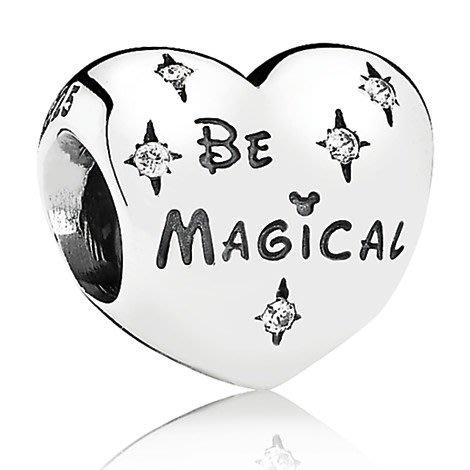 【美國大街】正品.美國迪士尼潘朵拉愛心吊墜串珠潘朵拉串珠 Pandora Be Magical【附盒】