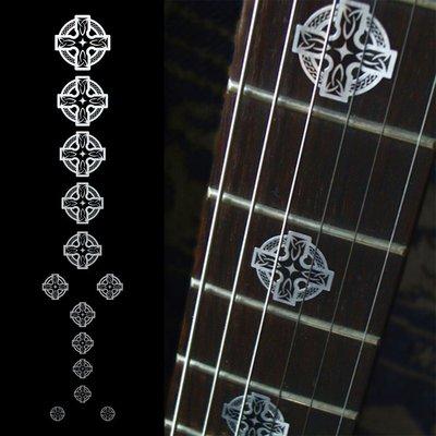 園之屋 現貨 日本 Inlay sticker 金屬色 賽爾特十字 指板貼紙 民謠吉他 電吉他 貝斯 移除簡單不傷漆面