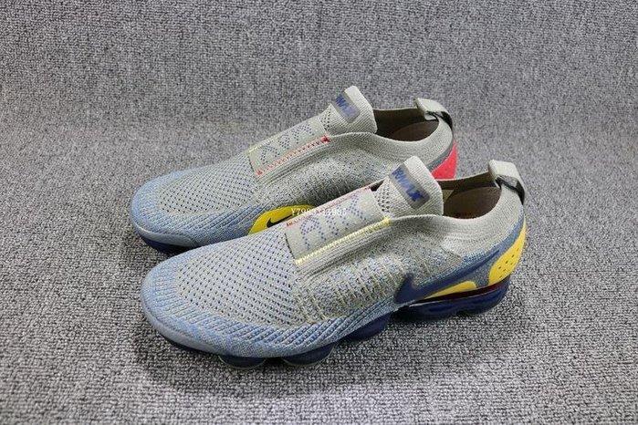 NIKE AIR VAPORMAX FK MOC 2 灰藍 經典 編織 氣墊 慢跑鞋 男鞋 AH7006-004