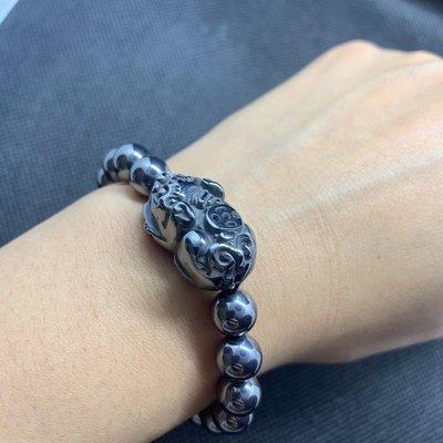 特價回饋鈦赫茲手鍊手珠貔貅招財咬錢手鏈日本熱銷能量石