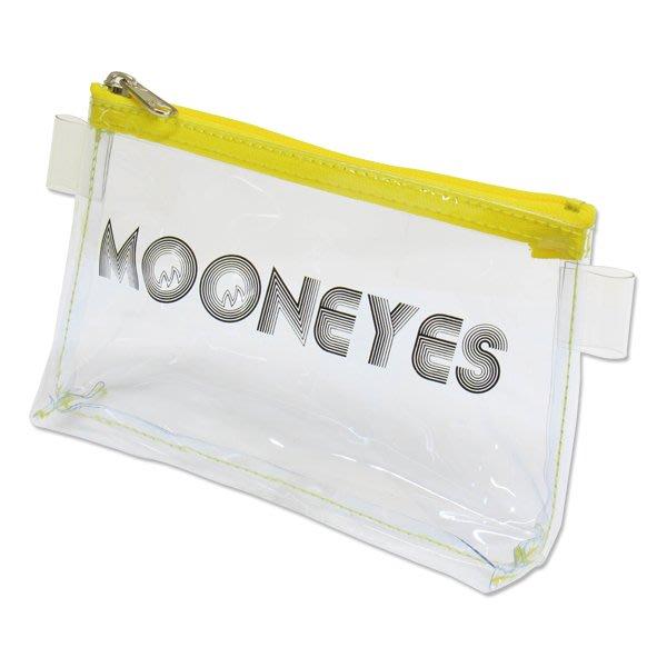 (I LOVE 樂多) MOONEYES 透明防水小物包 化妝包 收納包