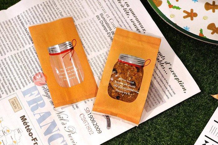 加寬餅乾袋_玻璃罐款(牛皮)7x15+4_約100入_B096-0008C◎平口袋.加寬.餅乾.西點.包裝袋.餅乾袋