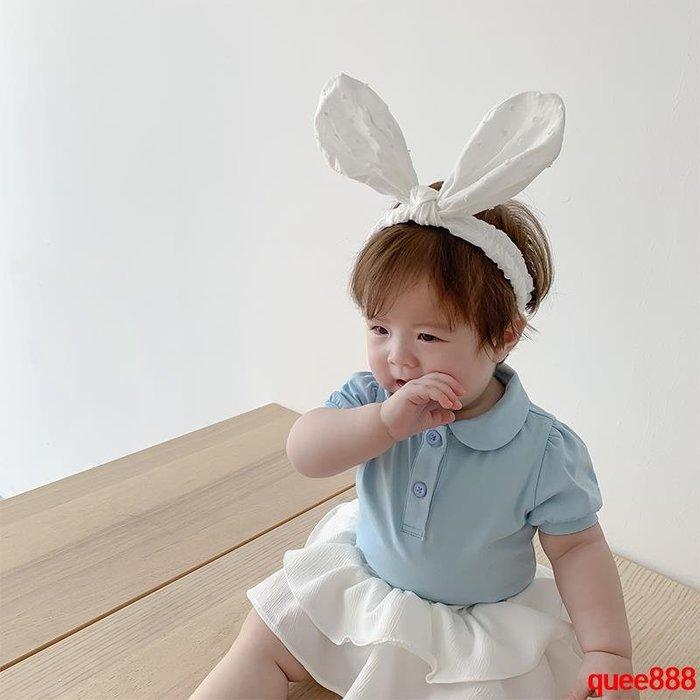 霖霖家嬰童裝 女嬰兒夏裝圓領polo衫 寶寶上衣 女孩女童翻領T恤衫