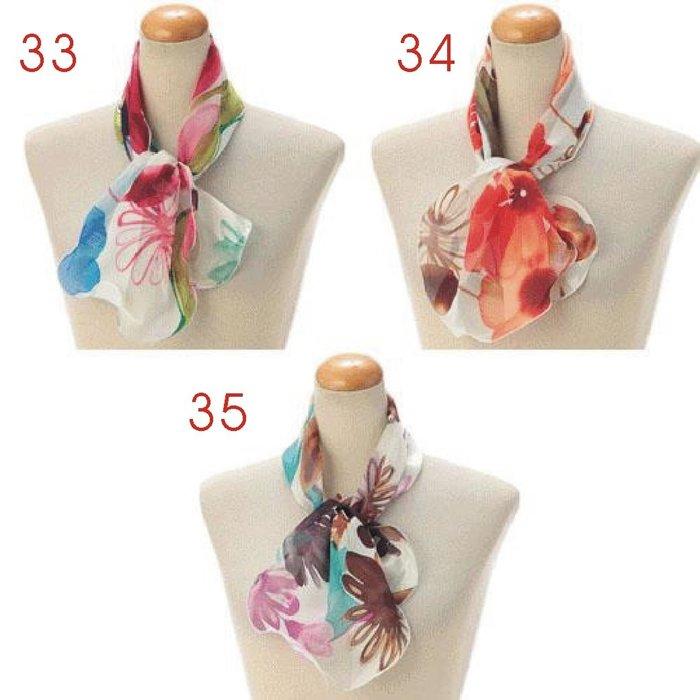 義大利製 ~ 2021年 簡約 波浪造型  短圍巾(賣場4-款式33~42) (共42款)