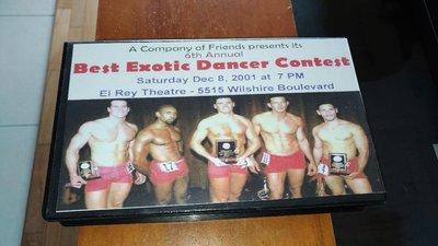 美國舞男競賽2 版絕錄影帶VHS  best exotic male dancer contest