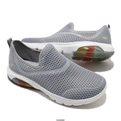 (全新正品)Skechers GO WALK AIR-TWIRL 走路鞋 氣墊 女款 休閒鞋 灰白 124073GRY代購