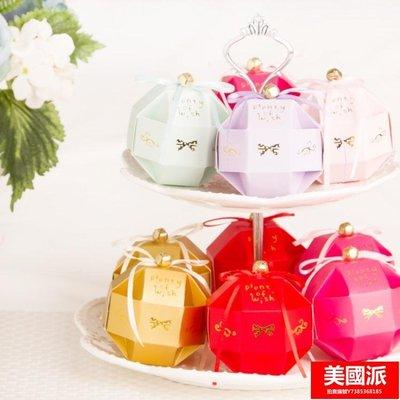 歐式幸福之鈴糖盒100只免郵裝 結婚喜糖盒子 生日 滿月【美國派】