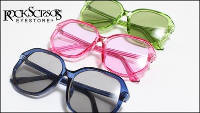 Rock scissors-[韓國製] 歐美潮流 復古70s Pop Art 全透明 海洋鏡片 細框大方框太陽眼鏡