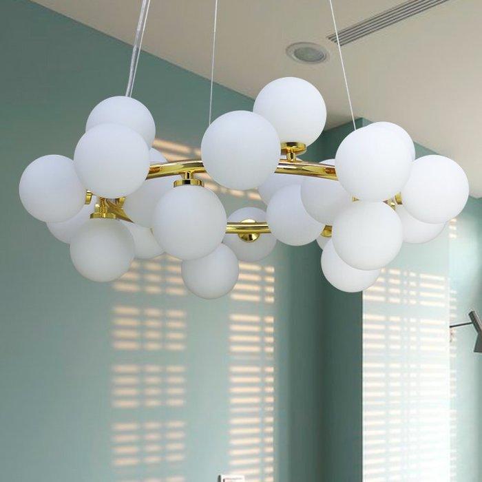 【58街】米蘭展設計師款式「水分子吊燈」美術燈。複刻版。GH-566