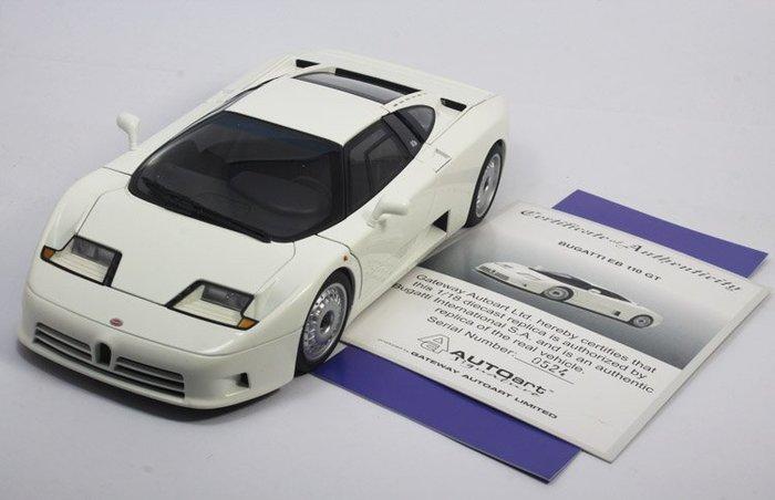 奧拓AUTOart  1:18 BUGATTI 布加迪EB110 GT 藍白紅銀 汽車模型   模型